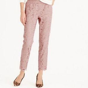 J.Crew Floral Lace Pink Pants 2P